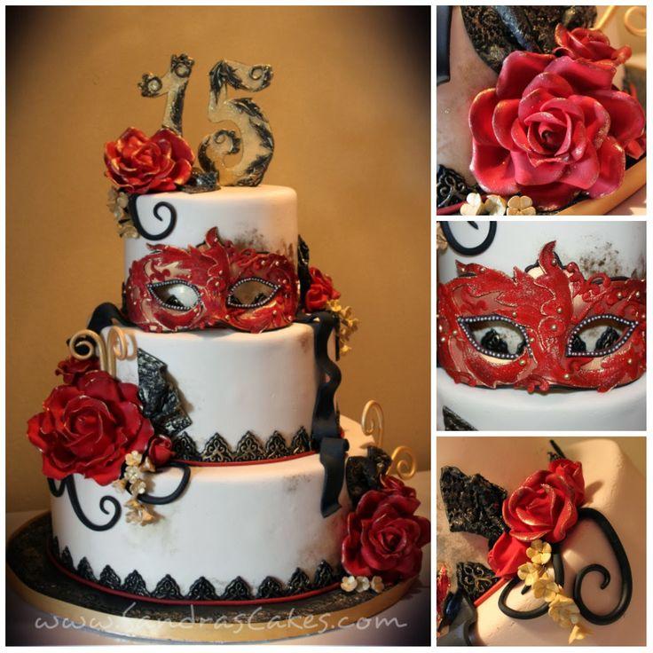 Sandra's Cakes: Masquerade Themed Quince Celebration