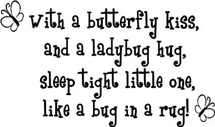 Amazoncom Butterfly Kiss Ladybug Hug Quote Removable