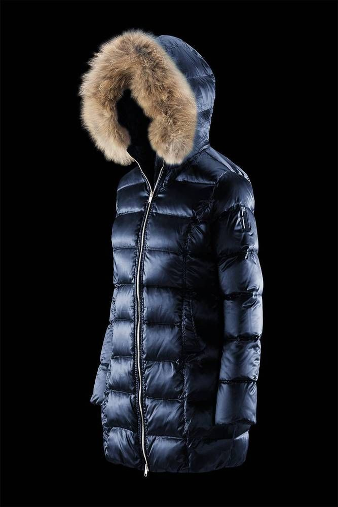 BOMBOOGIE Damen Mantel mit Echtfell (Waschbär) CW 106PTCSI 20