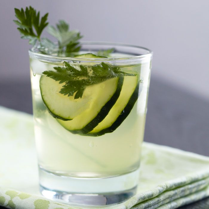 No-Cal Spa Inspired Cucumber Cooler