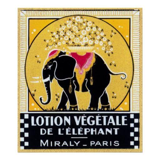 Vintage French Label, Paris, Elephant Art Posters: Paris, Elephant Art, Vintage Labels, Tattoo Inspiration, Elephants Art, Vintage French, Vintage Elephant, Art Posters, French Labels