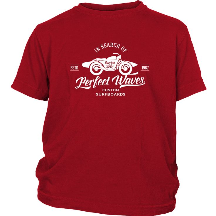In Search of The Perfect Waves Custom Surfboards - Surf T-Shirt Collection - Youth - White