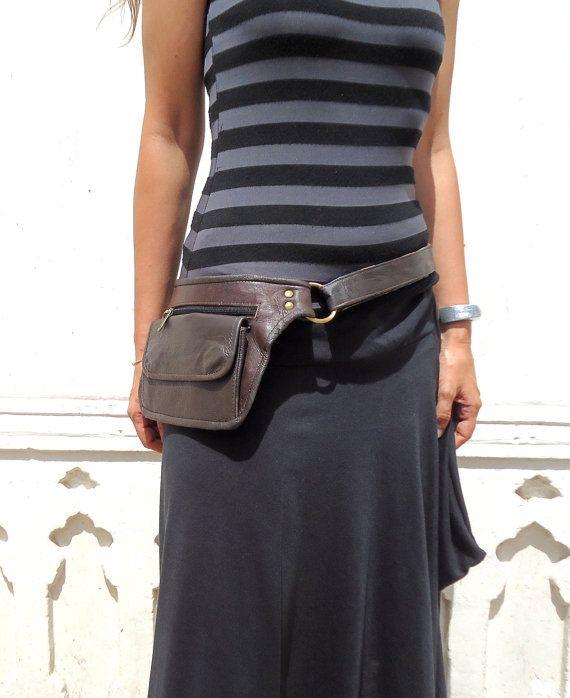 Utility Belt Leather Bag Hip Pocket In