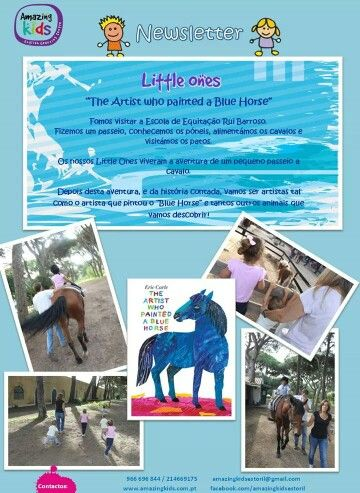 The Artist who painted a blue horse story by Eric Carle: Project with our Little Ones