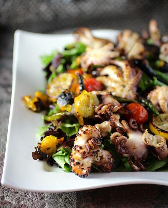 Charred Baby Octopus Salad