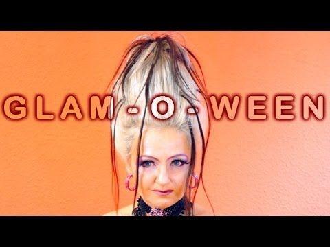 Glamouröses Halloween eine Hochsteckfrisur selber machen - Anleitung, Tutorial