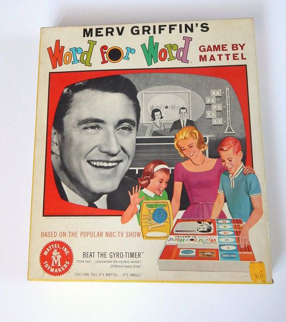 1960s Mattel Merv Griffin's Word for Word game