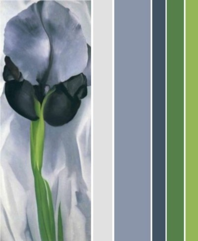 Blue grey and green lor scheme for new home