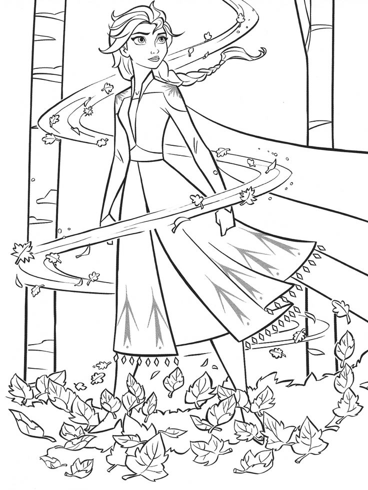 New Frozen 2 coloring pages with Elsa in 2020 Coloring