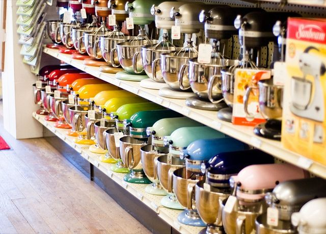 Kitchen Aid in every color! I think I would die of happiness if I were ever to see this in real life.