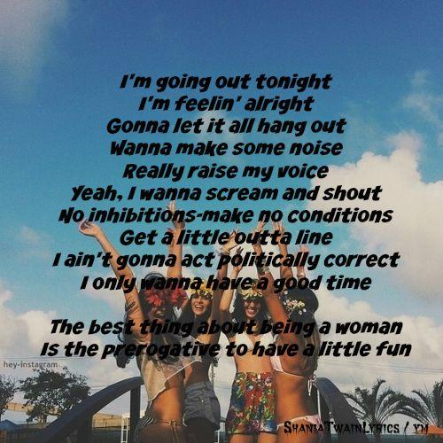 Man! I Feel Like A Woman by Shania Twain Lyrics