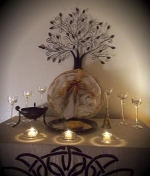 Ozark Pagan Mama Imbolc Altar 2013