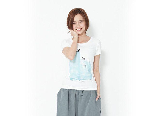【木易 so that's me】半袖Tシャツ・ペンギン ピーチコットン/ホワイト 【XLサイズ】【レディース】【綿100%】 全商品送料無料