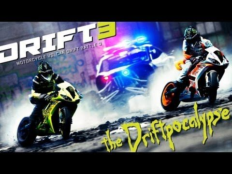 These guys are better than any Hollywood movie, and they're doing all these stuff for real! You can't have ANY fear of death to do this kinda stuff... dude... watch it (in HD full Screen)... Motorcycle vs. Car Drift Battle 3 - [Full HD] - YouTube
