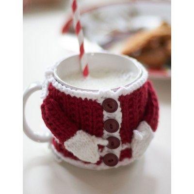 Santa Mug Knitted Cozy Free Pattern