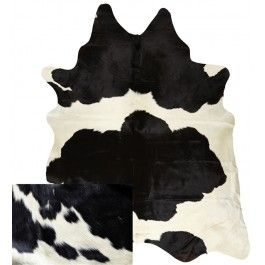 NATURAL COWHIDE RUG BLACK AND WHITE