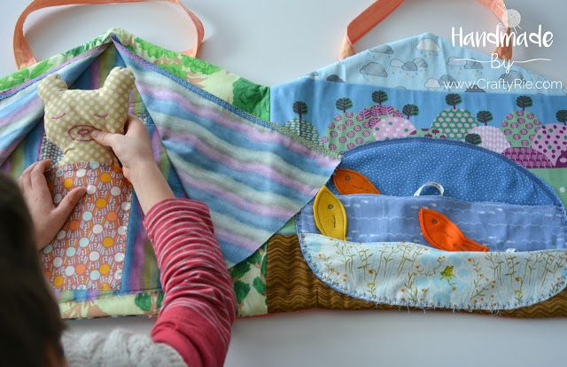 An easy sew, scrap buster project -- a Quiet Play book for the kids