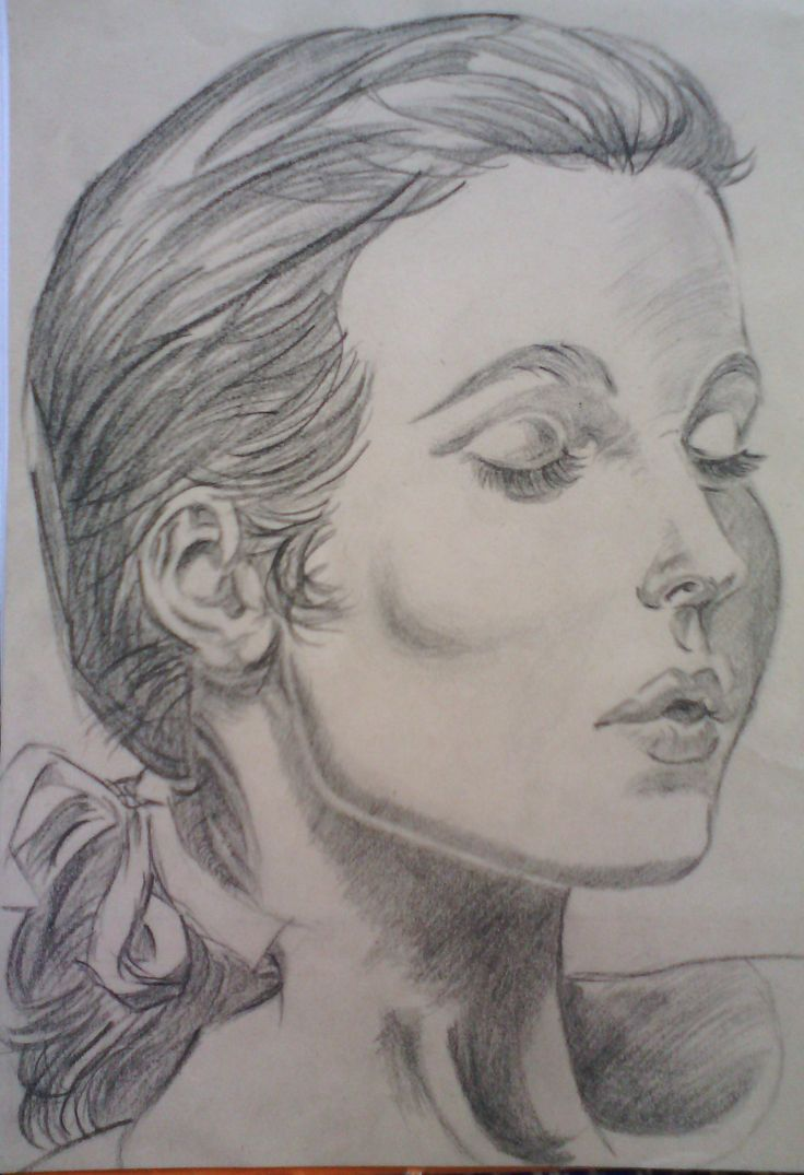 Second attempt at a portrait of a woman.