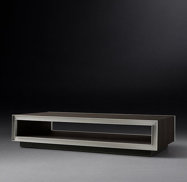 Marlow Open Coffee Table Marlow 1960s Inspired Metal Trim
