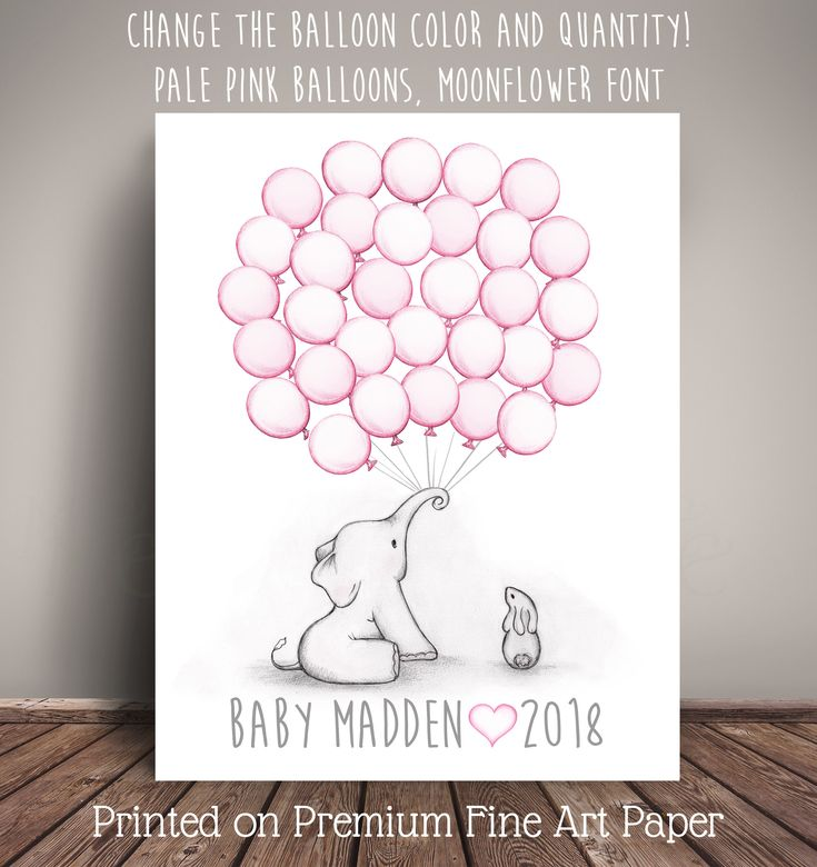 Choose Your Colors Elephant And Bunny Baby Shower Guest Book Alternative    2018x