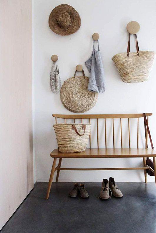 wood polka dot wall storage hooks. / sfgirlbybay