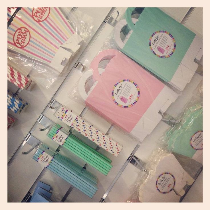Beautiful pastel colours. Party boxes, straws, loot bags!