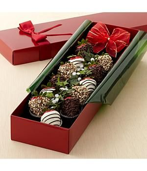 Looking for a really wonderful Valentine's present for her a Full Dozen Strawberry Roses!