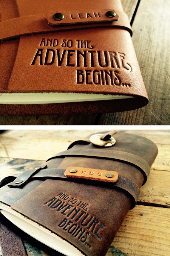 50% OFF SALE!! Adventure Travel Notebook Refillable Leather Journal...Leather Notebook Custom Journal ... Small only 20 Dollars...