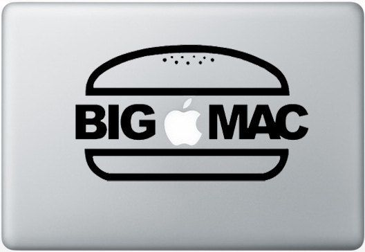 Laptop decal – Laptop Sticker – Macbook Pro decal – Macbook Air decal – Car window – Hipster - Big mac Sticker