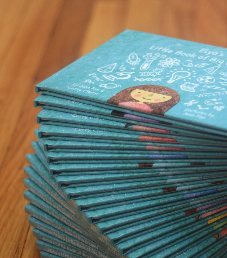 Customized copies of _'s Little Book of Big Dreams. A book for girls to imagine themselves in a STEM field. I made a PDF version for myself: it's awesome.