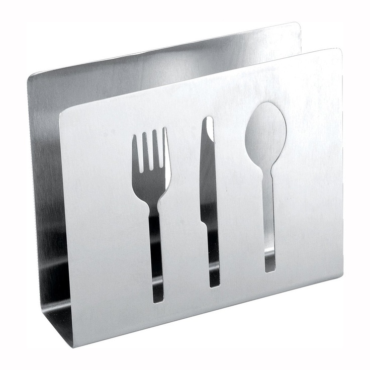 cuisinox napkin holder with flatware cutout playful and practical