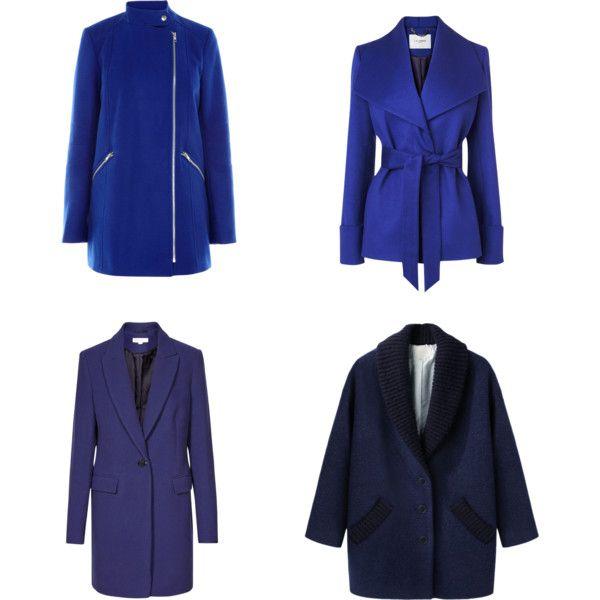 """синие пальто"" by fashionsetter-36 on Polyvore"