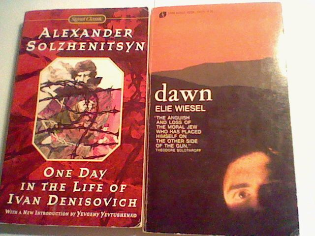 Dawn Elie Wiesel / One Day in the Life of Ivan Denisovich Solzhenitsyn ,lot