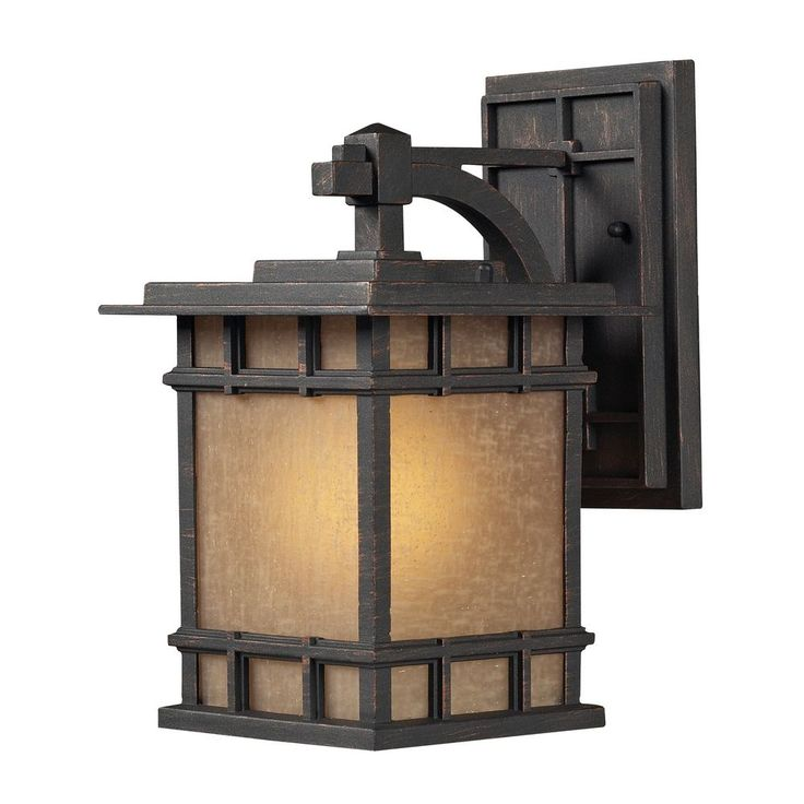 ELK Newlton 1 Light Outdoor Sconce In Weathered Charcoal -  sc 1 st  Pinterest & 184 best Lighting - Wall Sconces - Arts u0026 Zen images on Pinterest ... azcodes.com
