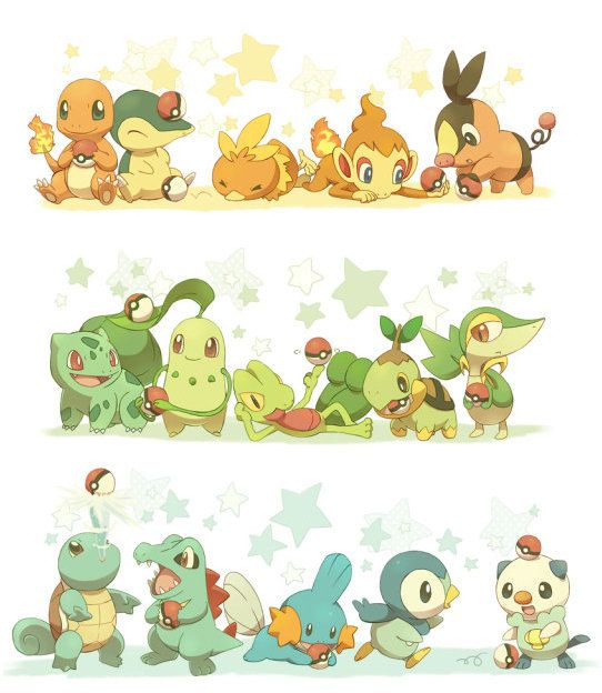 Aww.. Starter Pokemon.: Gen Starters, Gotta Catch, Pokemon Starters, Catch Ems, Favorite Starters, Fans Art, Blog Photo, Animal, Starters Pokemon