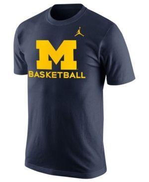 Nike Men's Michigan Wolverines Basketball University T-Shirt - Blue XL