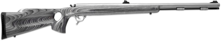 Thompson Center Omega, .50 Cal, with a stainless steel barrel and thumbhole laminated stock