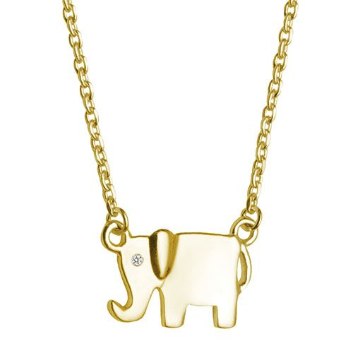 14K Gold Vermeil Elephant Necklace with Diamond by Fifth Bond on Must Have Monday