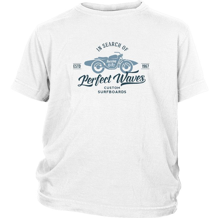 In Search of The Perfect Waves Custom Surfboards - Surf T-Shirt Collection - Youth