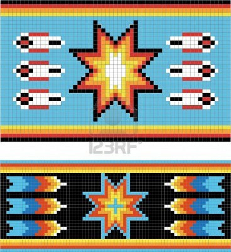 Traditional (native) American Indian pattern, vector Stock Photo