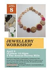 Great school holiday activity - jewellery making - in Surrey Hills Melbourne, coming soon