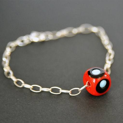 Talisman Fine Silver Bracelet the Evil Eye Bead
