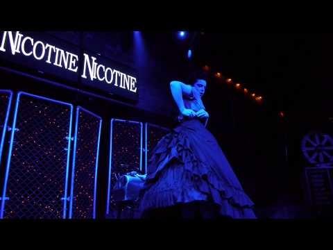 Sarah Hunter (Lady Clankington) steampunk burlesque performance at the Dallas Fetish Ball 2012