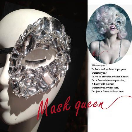 Half Face MaskStylish EyewearMasquerade Ball by MaskQueen on Etsy, $50.00