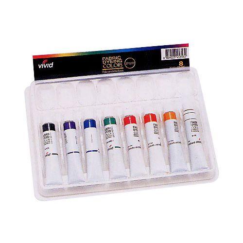 Dye Textile Fabric Paint Colorbank Vivid 8 Colors Set 7.5m 0.25oz Tube Deco Art #ColorBank