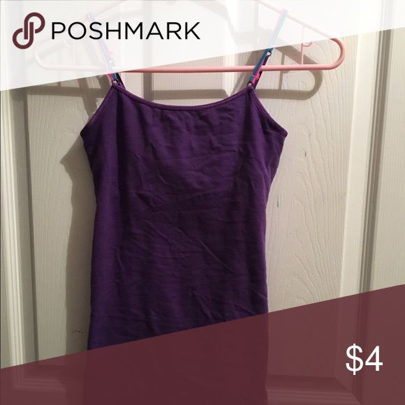 Purple Cami/undershirt/tank top Purple Cami from Aeropostale with multi colored straps Aeropostale Tops Camisoles