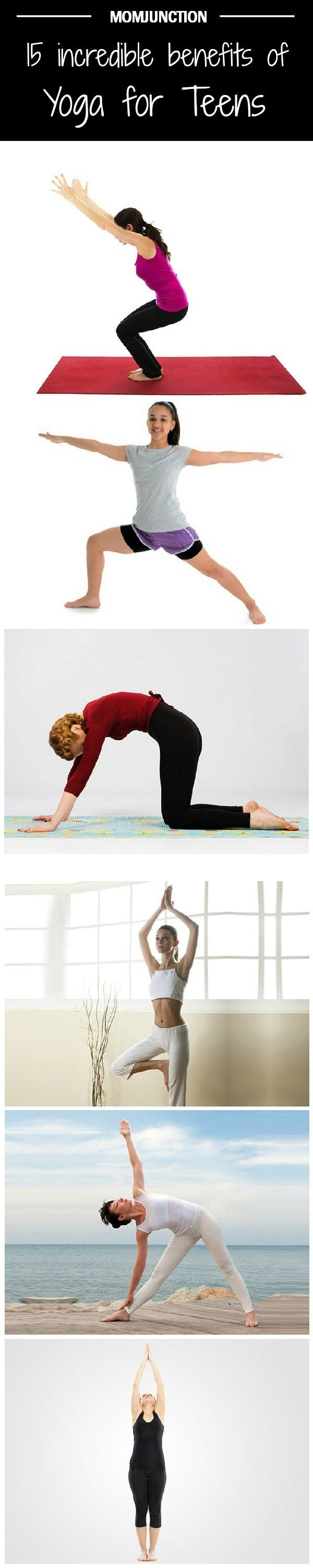 Top 15 Benefits Of Yoga For Your Teenager: There are several benefits of yoga – physical, mental and spiritual. Here are the top 15 benefits of yoga for your teenager.  This is great!  Love it! #fb Gaileee