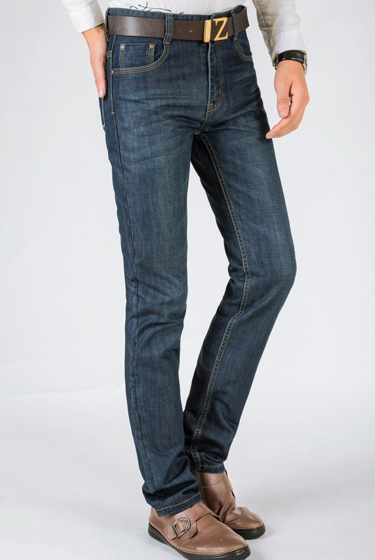 Men's Mannen Vaqueros Blue Slim Denim Casual Big Size Biker Jeans
