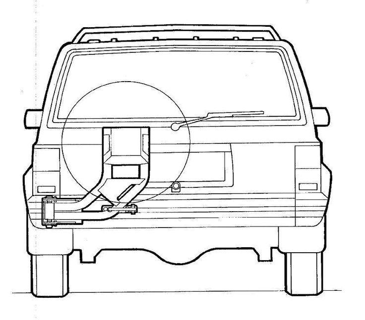 Cherokee XJ Single Wheel Carrier