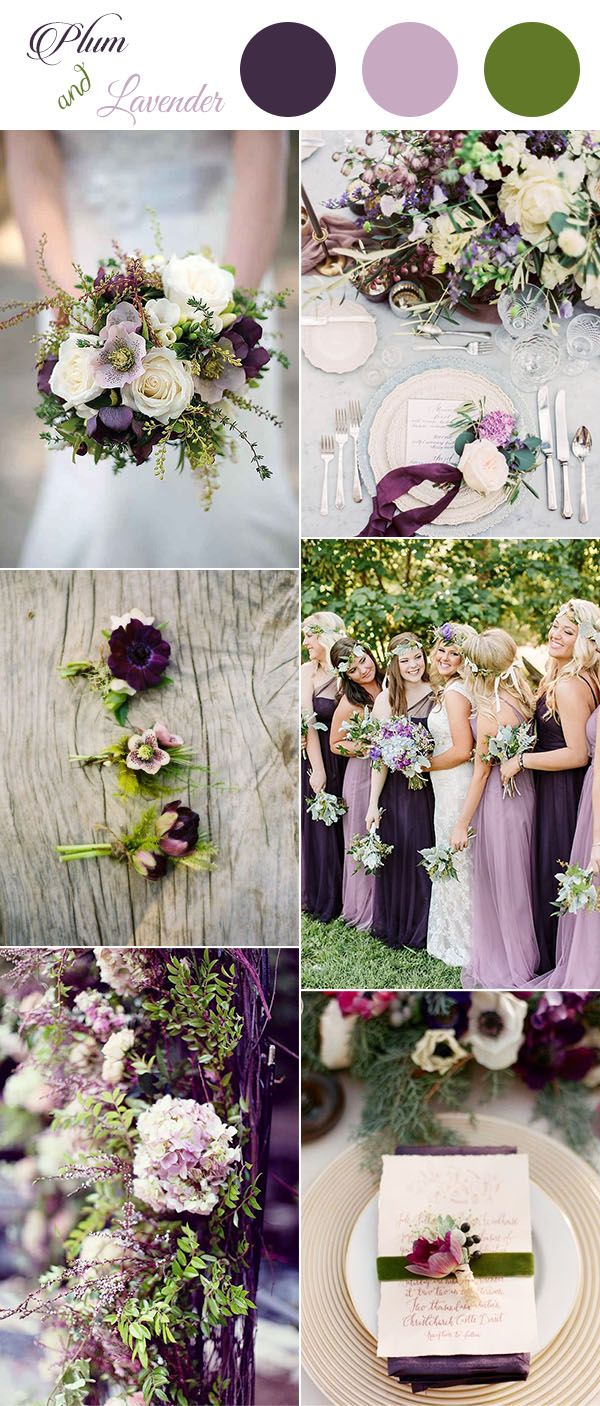25 swoon worthy spring amp summer wedding bouquets tulle amp chantilly - Get Inspired By These Awesome Plum Purple Wedding Color Ideas